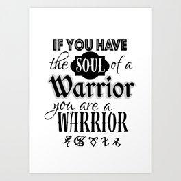Soul of a Warrior - Infernal Devices Art Print