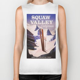 Squaw Valley California Ski poster. Biker Tank