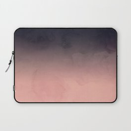 Modern abstract dark navy blue peach watercolor ombre gradient Laptop Sleeve