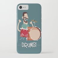 drums iPhone & iPod Cases featuring Drums! by soy8bit