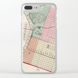 Vintage Map of Sacramento CA (1873) Clear iPhone Case