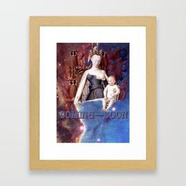 Madonna surrounded by Seraphim and Cherubin Framed Art Print