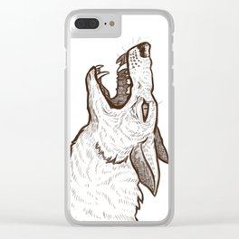Open Mouth Clear iPhone Case