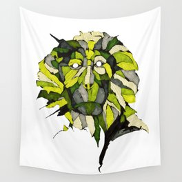 The green Monkey Wall Tapestry