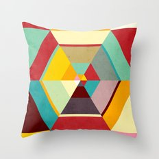 Color Mess Throw Pillow