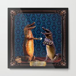 The Curiosity Shop Crocodiles Metal Print