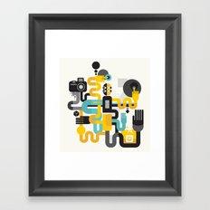 The photographer. Framed Art Print