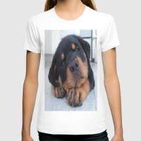 rottweiler T-shirts featuring Riley  🐾  The Rottweiler Puppy  🐾 by Barrier _S_D
