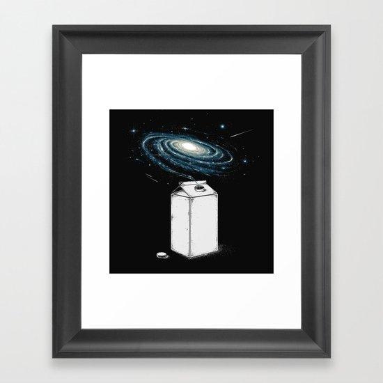 Milky Galaxy Framed Art Print