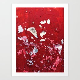 Red Chips Art Print