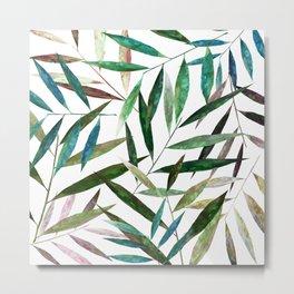 Bamboo Leaves Metal Print