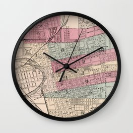 Vintage Map of Columbus Ohio (1868) Wall Clock