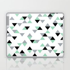 Triangles Mint Grey Laptop & iPad Skin