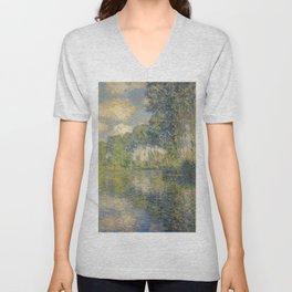 "Claude Monet ""Poplars on the Epte"" Unisex V-Neck"