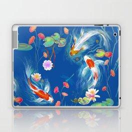 Blue Japanese Water Garden Laptop & iPad Skin