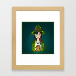 Candlelight Witch Framed Art Print