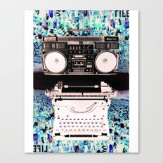 Stereo Type Canvas Print