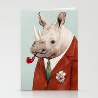 rhino Stationery Cards featuring Rhino by Animal Crew