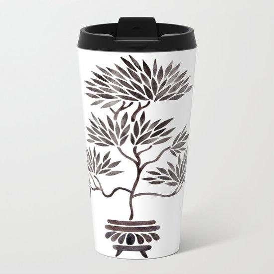 Bonsai Tree – Black Palette Metal Travel Mug