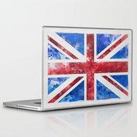 union jack Laptop & iPad Skins featuring Union Jack by LebensART