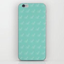 Geo Cat Mint iPhone Skin