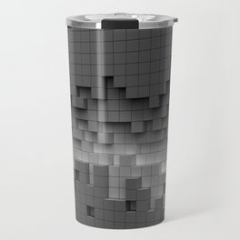 Grey cubes mosaic - torn wall Travel Mug