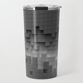 Grey cubes mosaic - torn wall Travel Mug