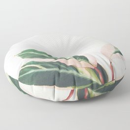 Pink Leaves III Floor Pillow