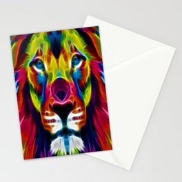 Colourful Lion Stationery Cards
