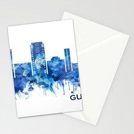 Gurgaon Haryana Skyline Blue Stationery Cards