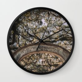 Wormsloe Historic Site - Savannah, Georgia Wall Clock