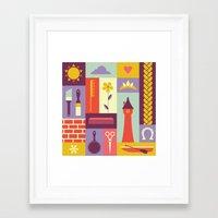 rapunzel Framed Art Prints featuring Rapunzel by Ariel Wilson