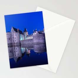 Sully sur Loire at night, Loire valley, France. Stationery Cards