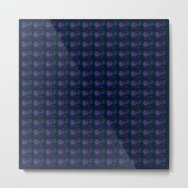 pattern pink bubbles on navy Metal Print