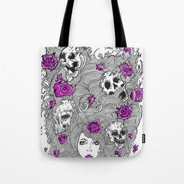 Purple Lady Nature. Tote Bag