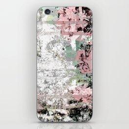 Shabby Chic White Washed Roses iPhone Skin