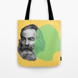 Walt Whitman portrait yellow green Tote Bag