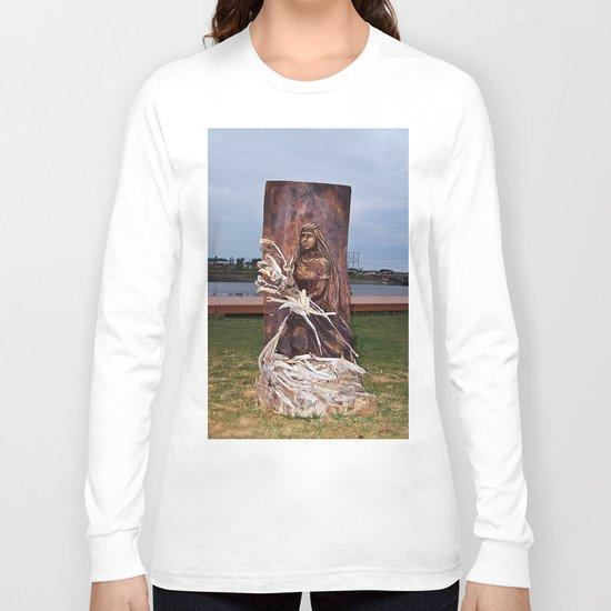 Driftwood Flower Lady Long Sleeve T-shirt