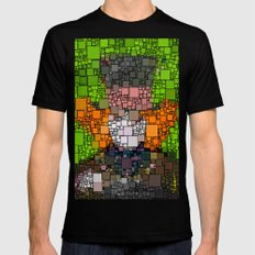 The Mad Hatter Black Mens Fitted Tee MEDIUM