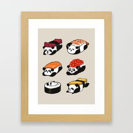 Sushi Panda Framed Art Print