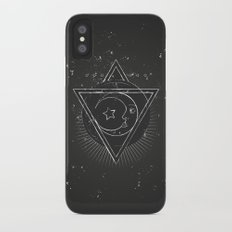 Mysterious moon iPhone X Slim Case