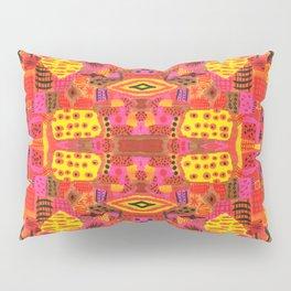 Boho Patchwork in Warm Tones Pillow Sham