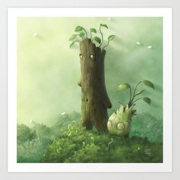 Plant Folk Art Print