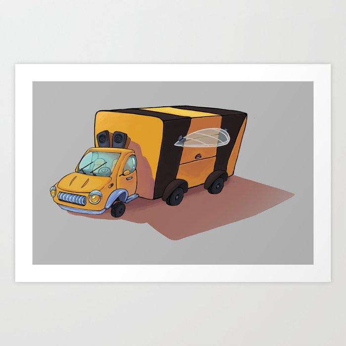 Bee car Art Print