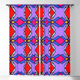 Bright Colorful Diamonds Blackout Curtain
