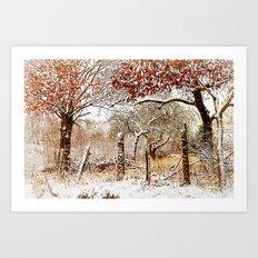 Painterly winter Art Print