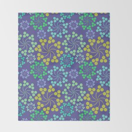 Fun Multicolored Whirligig Pattern Throw Blanket