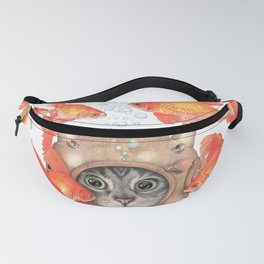 Scuba Cat Among the Fishes Fanny Pack