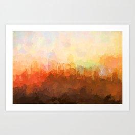 Cincinnati, Ohio Skyline - In the Clouds Art Print