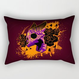 Skull 'n' Roses (NightmareNetty-Colored) Rectangular Pillow